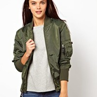 Alpha Industries Ma1 Bomber Jacket at asos.com