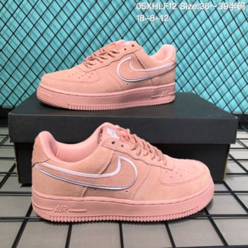 DCCK2 N274 Nike Air Force 1 LV8 Suede Skate Shoes Pink