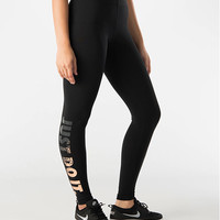 Women's Nike Leg-A-See Just Do It Metal Leggings