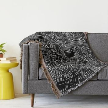 Computer Circuit Board Throw Blanket