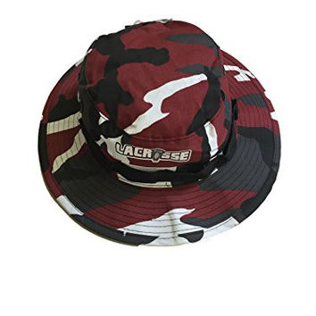 Bucket Hat Camouflage LACROSSE Boonie Safari Style (7 3/4, Red)