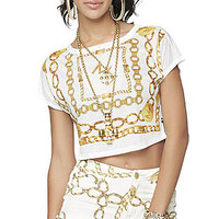 Nicki Minaj Women's Combo Crop Top - Medallion Print