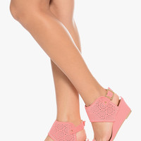 Ice Pink Wedge Sandals