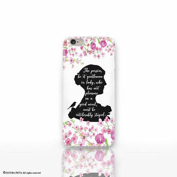 Jane Austen iPhone X case - iPhone 8/8 Plus case - iPhone 7/7 Plus case - iPhone 6/6 Plus case- iPhone 5/5S case- Galaxy-Huawei case-NP3D203