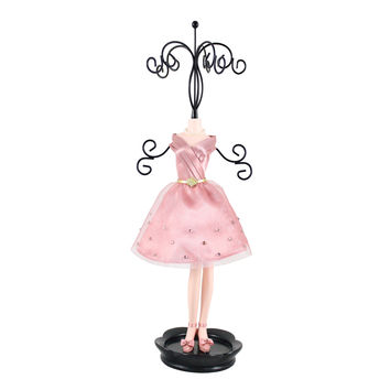"Royal Blossom Mannequin Jewelry Holder 4.76""""X14.53""""X3.46"""" Pink: Pink"