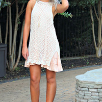 Lyrical Love Natural Crochet Dress