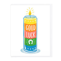 Good Luck 7 Day Candle Greeting Card