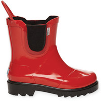 TOMS Red Black Youth Rain Boots Red 4