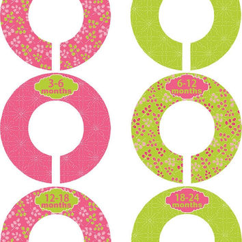 Custom Baby Closet Dividers Girl Princess Pink Green Closet Dividers Baby Shower Gift Baby Clothes Organizers Baby