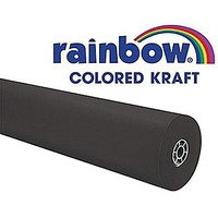 "Pacon® Rainbow® 100' x 36"" Colored Kraft Paper Roll, Black 