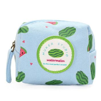 Women Lovely Fruit Cartoon Creative Coin Bags Purse Canvas Wallet