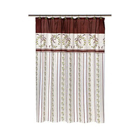Park Avenue Deluxe Collection Park Avenue Deluxe Collection  inch Victorian Christmas inch  Fabric Shower Curtain