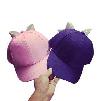 summer kids Baseball Caps Cotton Bow knot Solid Bow Girl Snapback Hip Hop Cap Flat Adjustable female cute Peaked Caps 4 colours