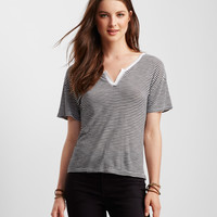 Striped V-Notch Tee
