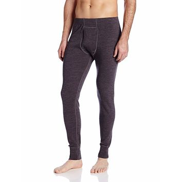 Male Pure 100% Fine New Merino Wool Men's Athletics Midweight Bottom Outdoors winter Thermal Underwear Pants CharcoalGrey