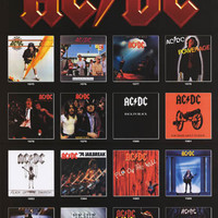AC/DC Album Covers 1975-1995 Poster 24x36
