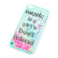 Music is a Girl's Best Friend Cover for iPod Touch 5