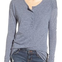Volcom 'Lived In' Heathered Henley Top | Nordstrom