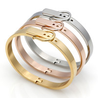 Classic Buckle Series Bracelet For Women Or Men Stainless Steel