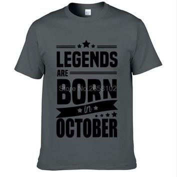 Legends Are Born In October - Zodiac Unisex T-shirt