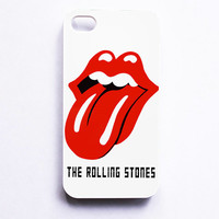 The Rolling Stones Logo White Phone Cases For iPhone, Samsung, Sony iPod