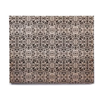 "Mydeas ""Fancy Damask Black & White"" Gray Birchwood Wall Art"