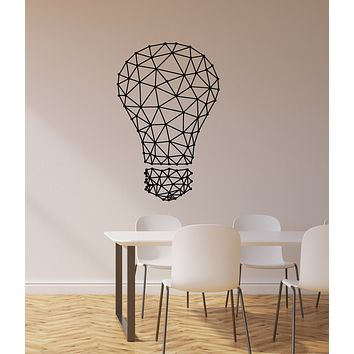 Vinyl Wall Decal Lightbulb Idea Office Room Space Decorating Stickers Mural (ig6061)