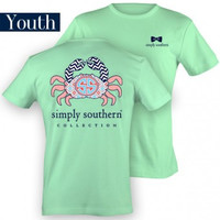Simply Southern Crab Youth Tee - Mint