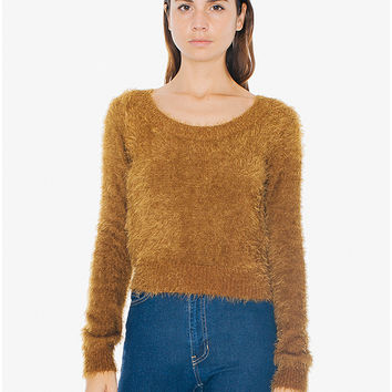 Shop Fuzzy Cropped Sweater on Wanelo