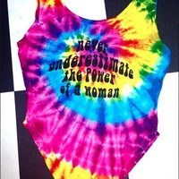 SWEET LORD O'MIGHTY! POWER OF A WOMAN TIEDYE BODYSUIT