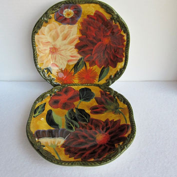 Vintage Raymond Waites Plates, Renaissance, Set of Two.