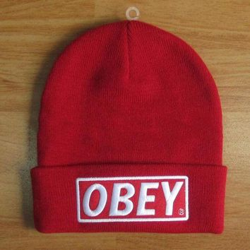 onetow One-nice? Perfect OBEY Hip Hop Women Men Beanies Winter Knit Hat Cap