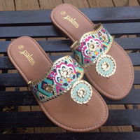Custom Lilly Pulitzer Inspired/Jack Rogers Inspired Sandals