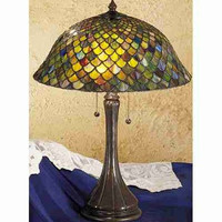 "0-024282>23""h Fish Scale Table Lamp 28369"