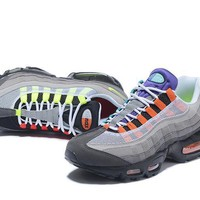 """Nike Air Max 95"" Unisex Sport Casual Multicolor Air Cushion Sneakers Couple Running S"