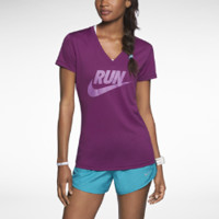 Nike Legend Run Swoosh Women's Running Shirt - Bright Grape
