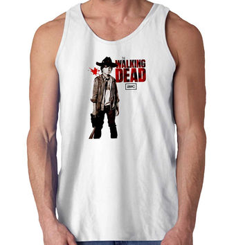 Chandler Riggs Carl Grimes The Walking Dead TV Series Tees For Mens Tank Top Fast Shipping For USA special christmas ***
