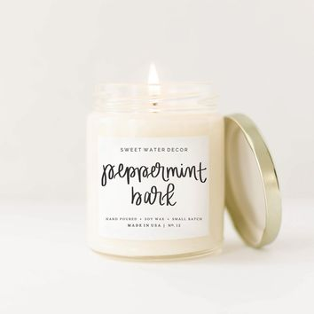 Peppermint Bark Soy Candle
