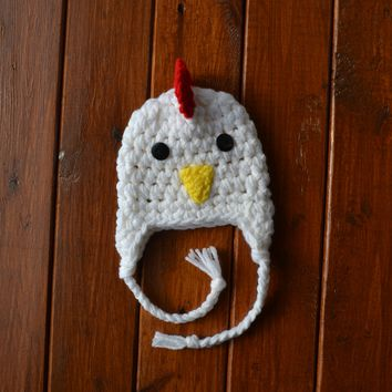 Baby Rooster Hat Newborn Baby Photo Prop