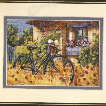 Top Quality Beautiful Lovely Counted Cross Stitch Kit Bicycle Afternoon Bike Flower House Home Autumn dim 65077