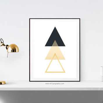 Minimalist Print, Abstract Wall Art, Minimalist Wall Art, Triangle Print, Geometric Art, Cadre, Birthday, Printable Art, Instant Download
