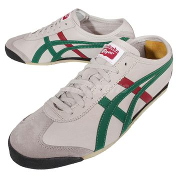 Asics Onitsuka Tiger Mexico 66 Grey Green Red Mens Running Shoes DL408-1684