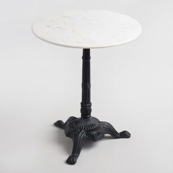 Marble Bistro Accent Table