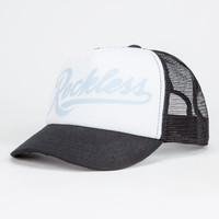 Young & Reckless Script Womens Trucker Hat Light Blue One Size For Women 27039522101