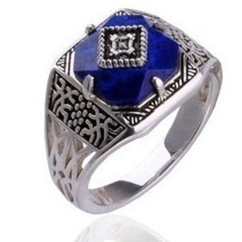 Silver Caroline Vampire Diaries Ring - Hot Sales Moving Rings Retro exaggerated Exaggerated Vintage Ring Jewelry #20009