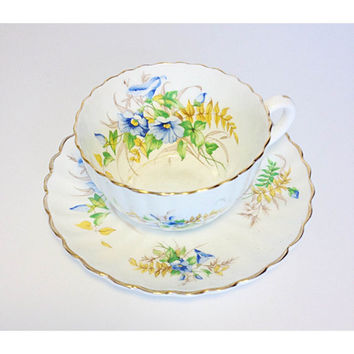 Radfords Bone China Teacup and Saucer Set, English China Tea Set, Radfords Tea Cup & Saucer, Floral Tea Set