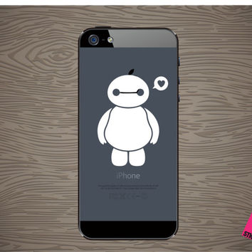baymax vinyl decal sticker, fits on iphone, free shipping!