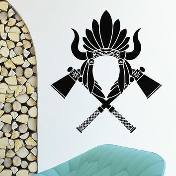 WALL DECAL VINYL STICKER PEOPLE NATIVE AMERICAN INDIAN TRIBAL DECOR SB942