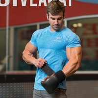 Men gyms Fitness t shirt Skinny elasticity Bodybuilding workout Cross fit shirts male Casual tee tops clothing