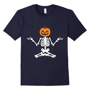 Halloween funny Skeleton Shirt - yoga halloween shirt